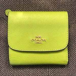 ❗️CLOSET CLOSING❗️Neon Coach Small Wallet